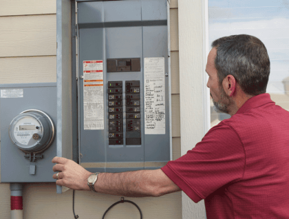 Electrical panel home inspection